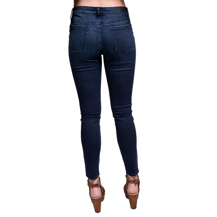 Articles Of Society Womens Sarah Skinny Dark Wash Jeans