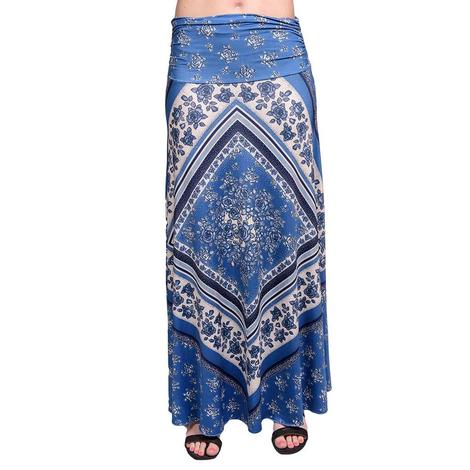 Tasha Polizzi Womens Wild Rag Cornflower Blue Floral Skirt
