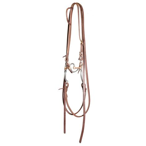 STT Slide Ear Split Rein Bridle Set with Correction Bit 8in Cheek