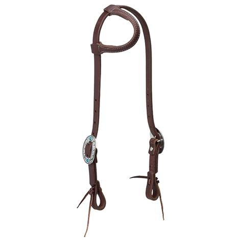 Slide Ear Headstall with Feather Buckle