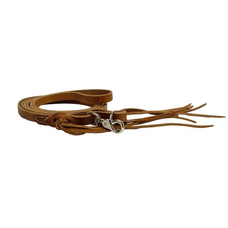 Pineapple Knot Harness Leather Roping Reins 5/8in