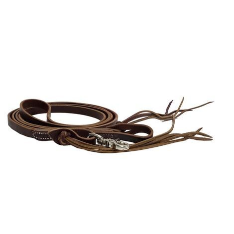 Pineapple Knot Latigo Leather Roping Reins 5/8in