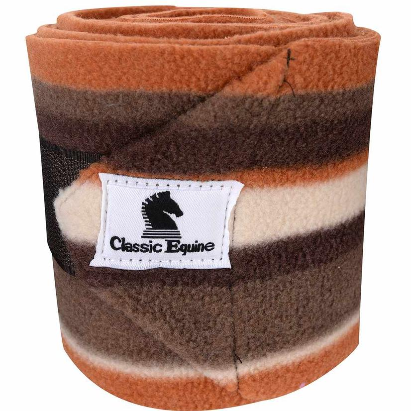 Classic Equine Fleece Polo Wraps CARIBOU_STRIPE