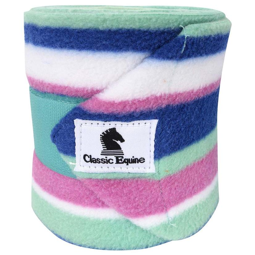 Classic Equine Fleece Polo Wraps ROYAL_STRIP