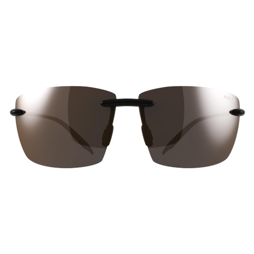 Bex Landyn Black- Brown Rimless Sunglasses
