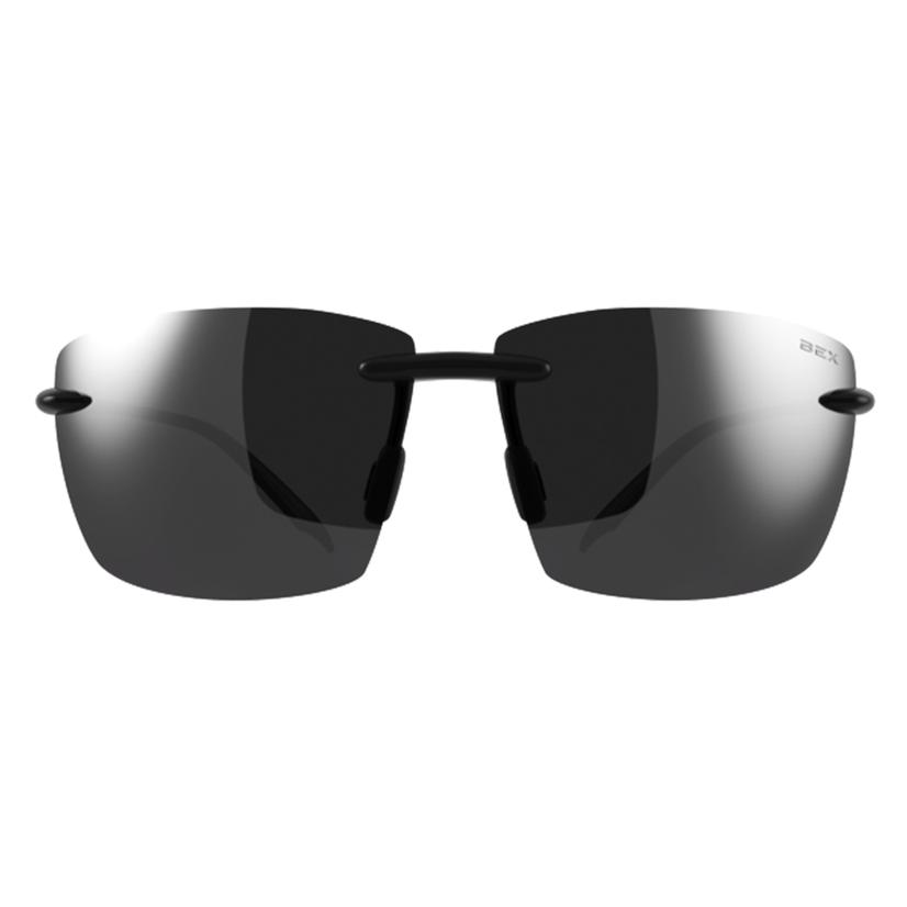 Bex Landyn Black- Grey Rimless Sunglasses