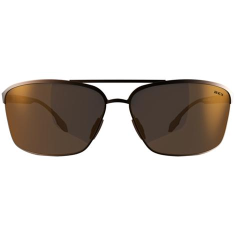 BEX Shuyk X Copper-Brown Metal Frame Sunglasses