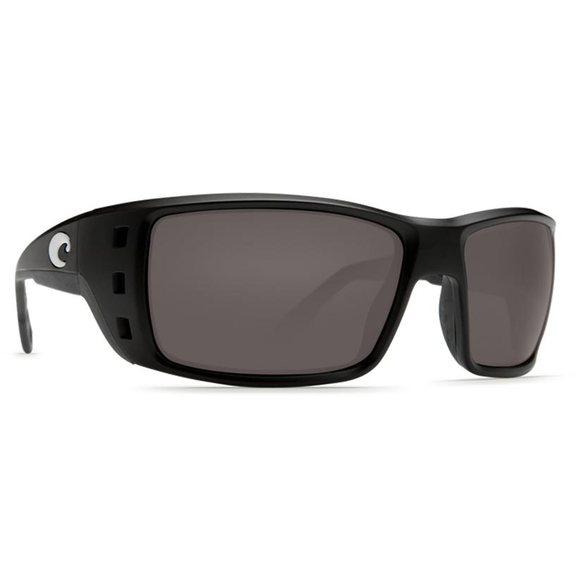 Costa Permit Black Dark Grey Sunglasses