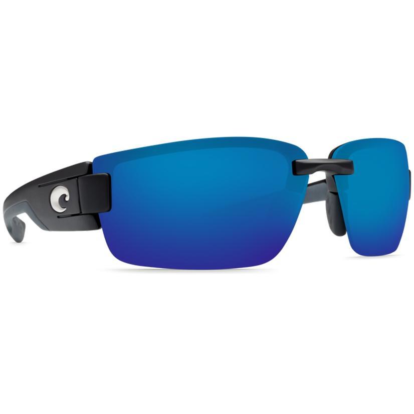 Costa Rockport Black Blue Mirror Sunglasses