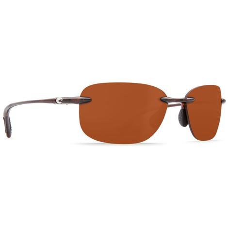 COSTA Seagrove Shiny Tort Copper 580P Sunglasses