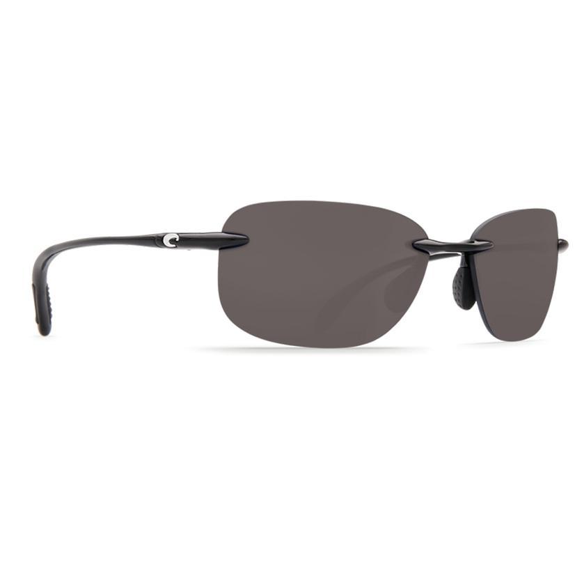 Costa Seagrove Shiny Black Gray 580p Sunglasses