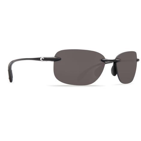 COSTA Seagrove Shiny Black Gray 580P Sunglasses