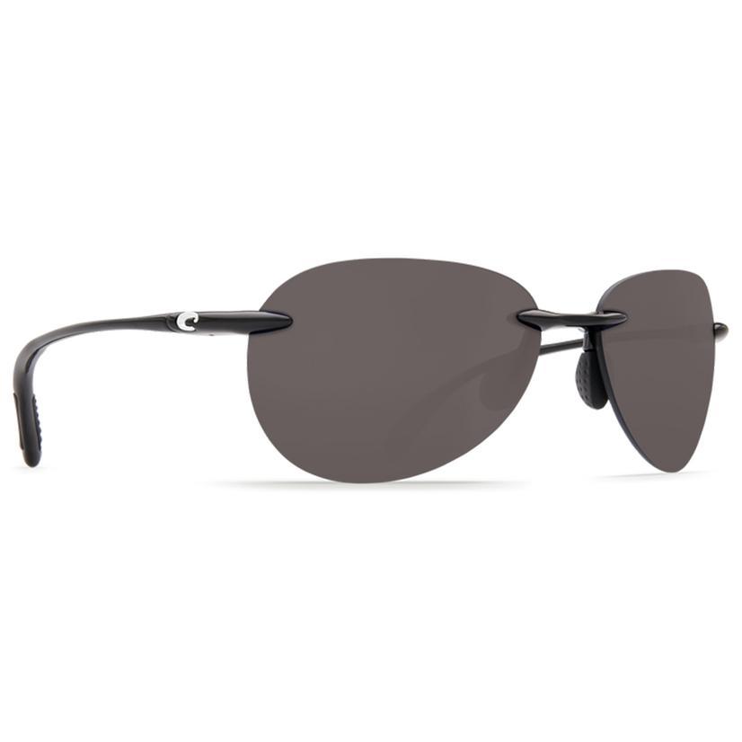 Costa West Bay Shiny Black Gray 580p Sunglasses