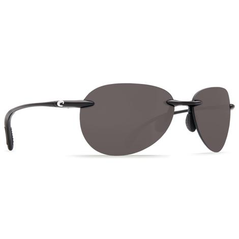 COSTA West Bay Shiny Black Gray 580P Sunglasses