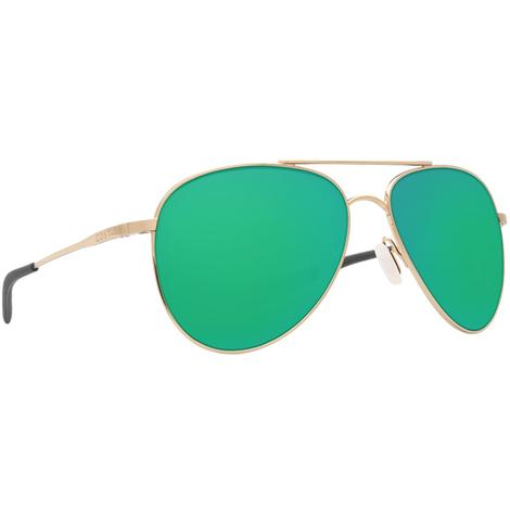 COSTA Cook Shiny Gold Green Lens Sunglasses