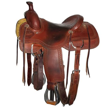 Circle T Ranch Cutter Pro 16in Used Saddle