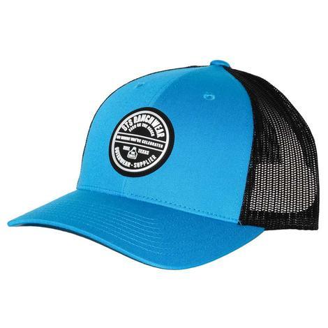 STS Ranchwear Cyan Black Mesh Back Patch Cap