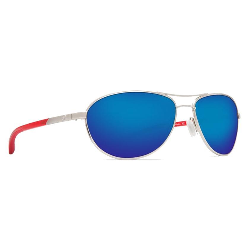 Costa Kenny Chesney Kc Palladium Red Temple Blue Mirror Sunglasses