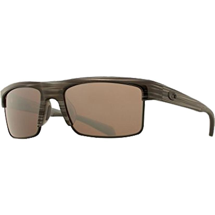 Costa South Sea Silver Teak Black Silver Sunglasses