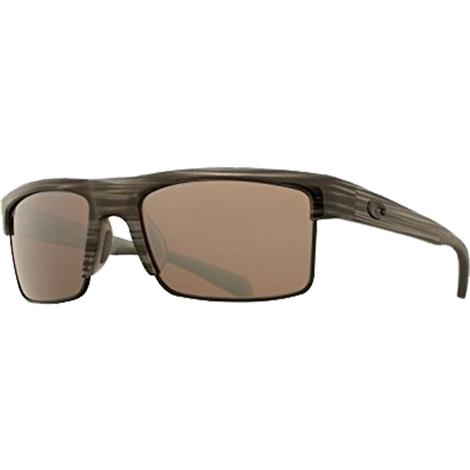COSTA South Sea Silver Teak Black Silver Sunglasses