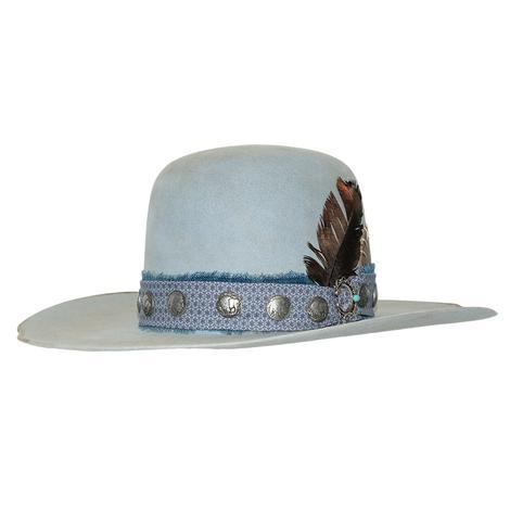 Double D Ranch Buffalo Joe Pastel Blue Felt Hat