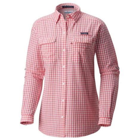 Columbia Womens Super Bonehead II Lollipop Gingham Shirt