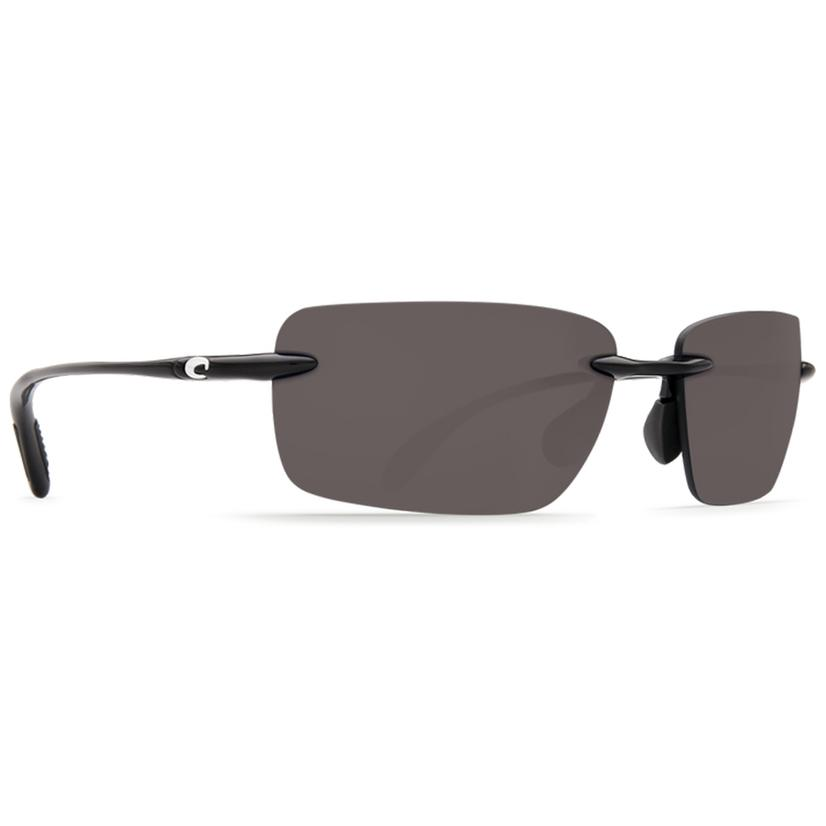 Costa Oyster Bay Shiny Black Grey 580p Sunglasses