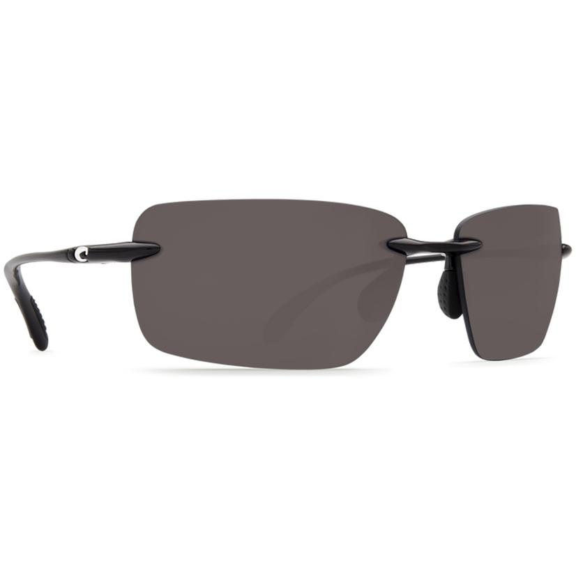 Costa Gulf Shore Shiny Black Grey 580p Sunglasses