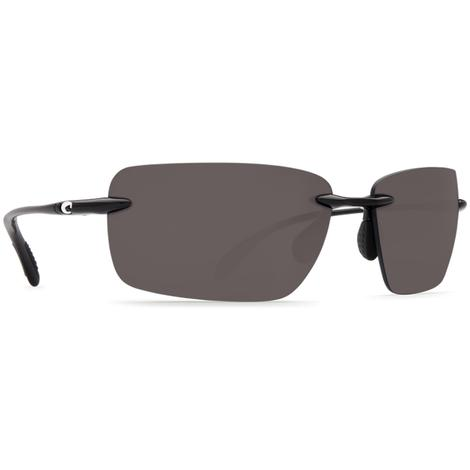 COSTA Gulf Shore Shiny Black Grey 580P Sunglasses