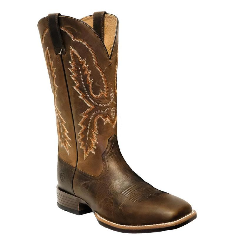 Ariat Mens Pecos Wicker Brown Square Toe Boots