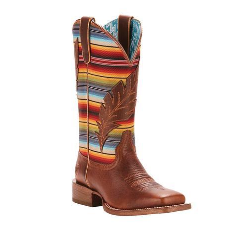 Ariat Womens Circuit Feather Autumn Tan Serape Boot