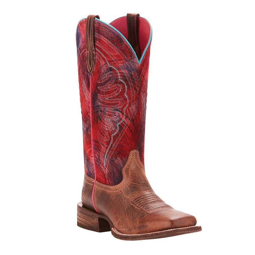 Ariat Womens Circuit Shilo Weathered Tan Paint Pink Boot