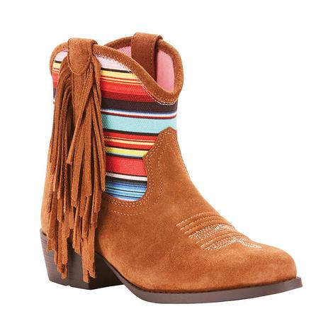 Ariat Kids Duchess Pink Serape Suede Fringe and Youth Boot