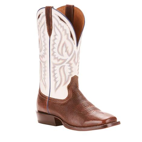 Ariat Bronc Stomper Texaco White Whiskey Men's Boot