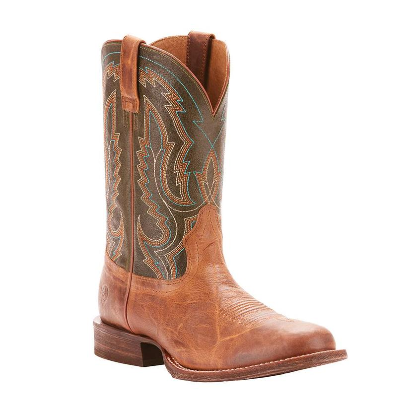 Ariat Mens Circuit Tobacco Toffee Rifle Green Boot