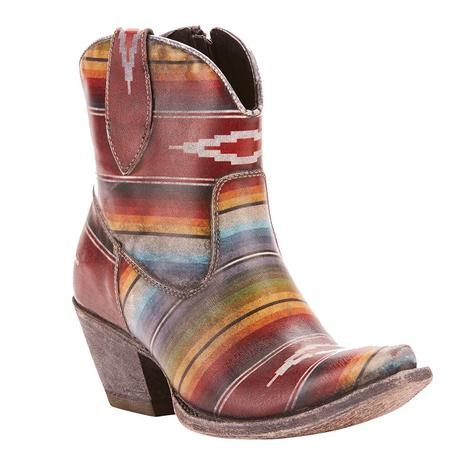 Ariat Womens Circuit Cruz Saddle Blanket Shortie Boot