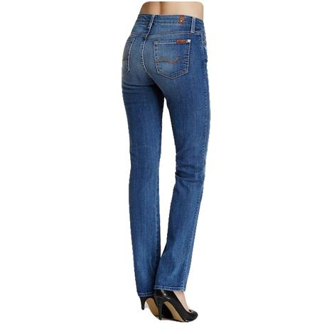 7 For All Womens Mankind Kimmie Straight BRDC Wash Jeans