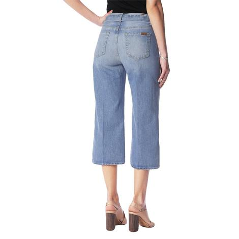 7 For All Mankind Womens Belted Culotte Lightwash Capri
