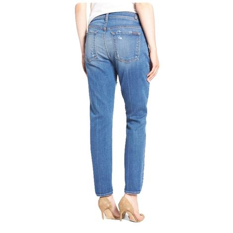 7 For All Mankind Womens Josephina Raw Patch Jean