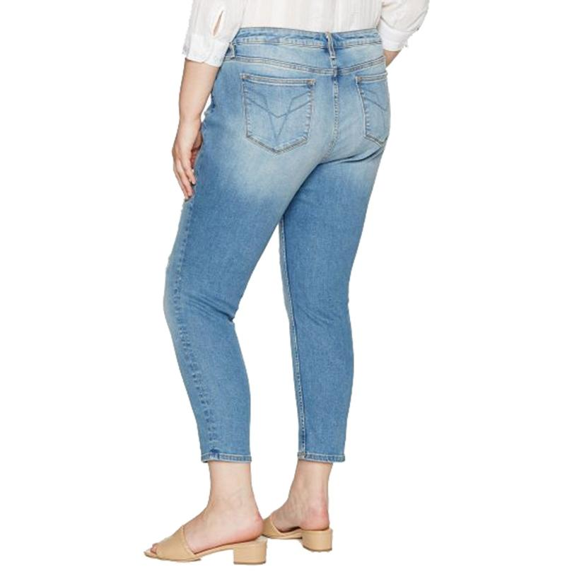 96f344ebcbe Vigoss Womens Chelsea Skinny Plus Size Light Wash Jeans