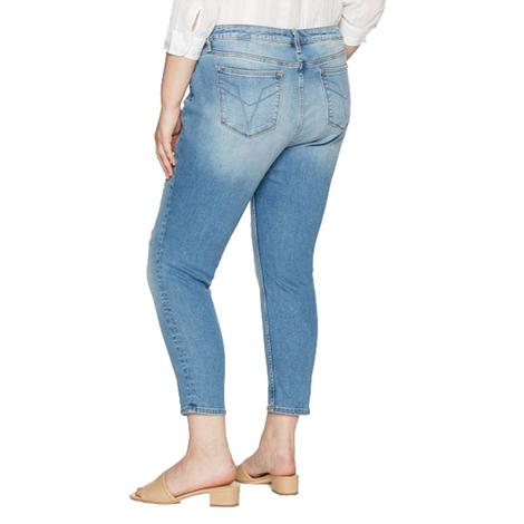 Vigoss Womens Chelsea Skinny Plus Size Light Wash Jeans