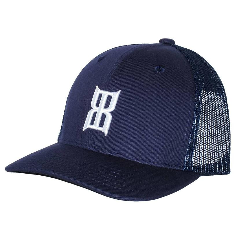 Bex Navy Mesh Back Kids Cap