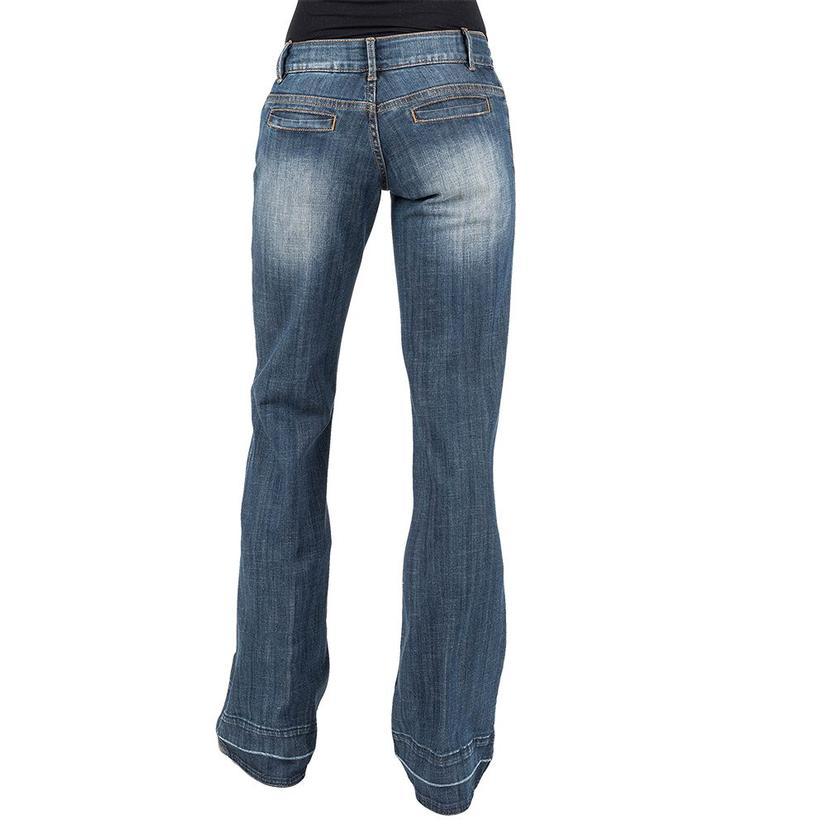 Stetson Released Hem Slit Pocket Women's Trouser Jeans