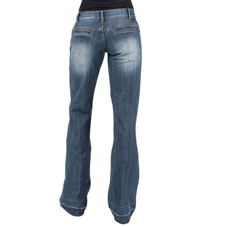 Stetson Released Hem Slit Pocket Women's Trouser Jeans