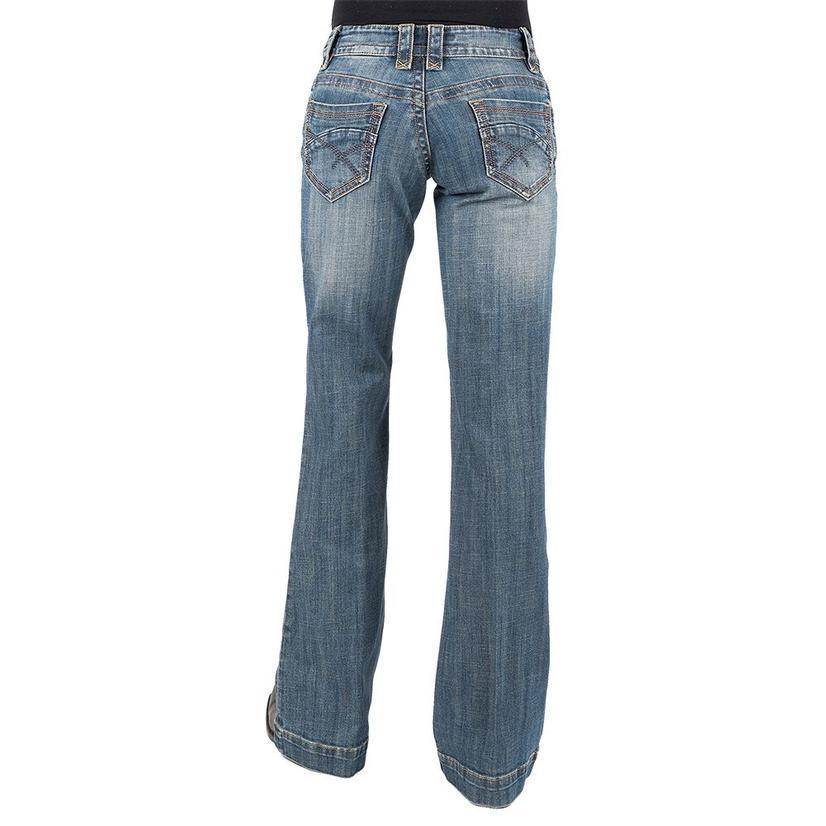 Stetson Womens Trouser Medium Wash Basic Pocket Jeans