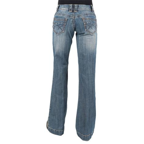 030e86293bec6 Stetson Womens Trouser Medium Wash Basic Pocket Jeans