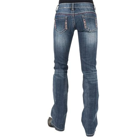 Stetson Womens Classic Boot Cut Simple Stitch Pocket Jeans