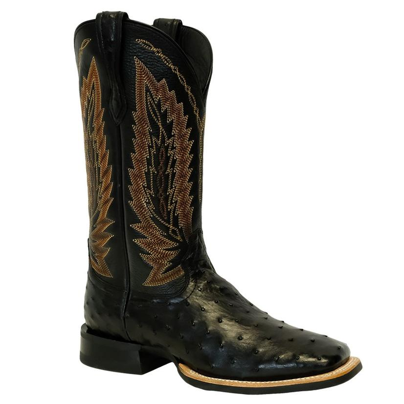 Ariat Mens Relentless Platinum Black Ostrich Boots