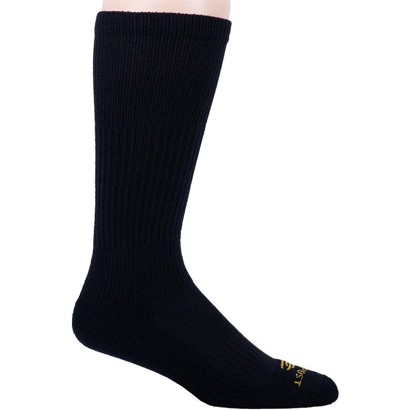 Dan Post Over The Calf Black Boot Socks