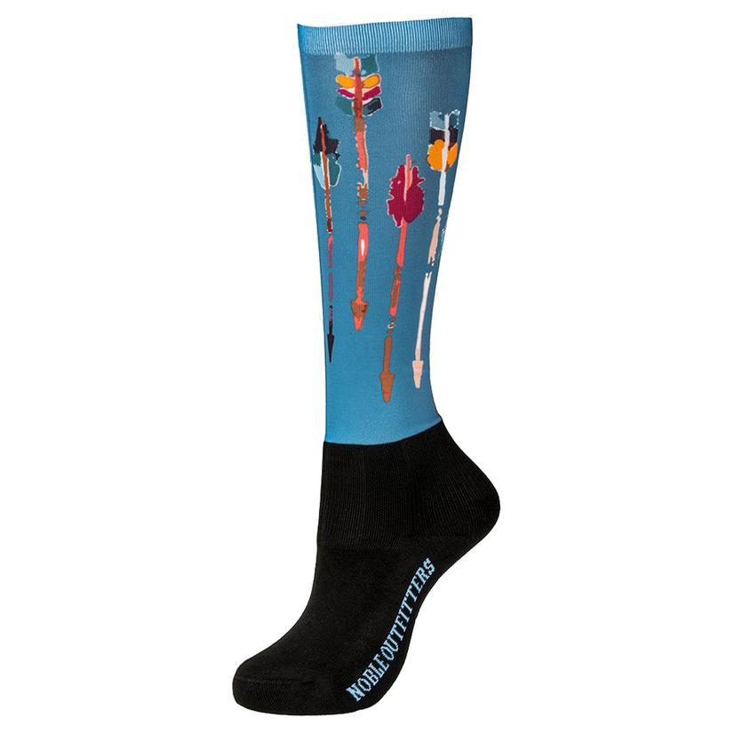 Noble Outfitters Girls Follow Your Arrow Over Calf Peddie Socks